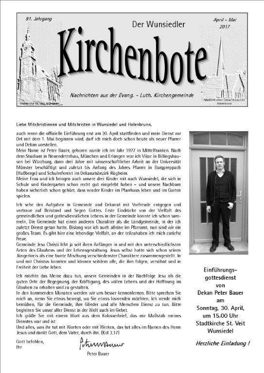 Kirchenbote April/ Mai 2017