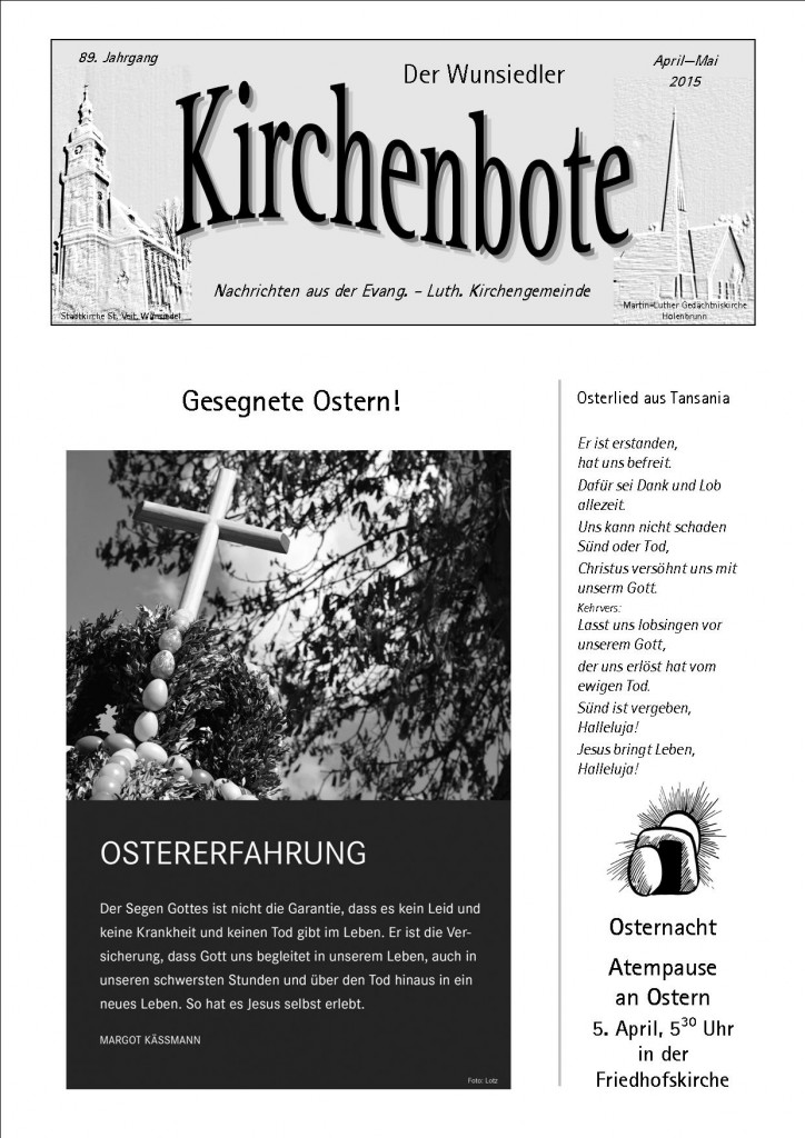 Kirchenbote April/Mai 2015