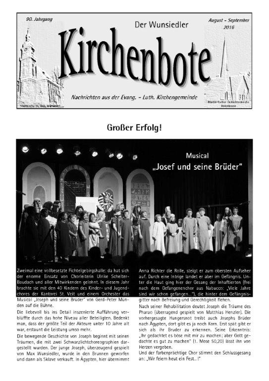 Kirchenbote August/September 2016