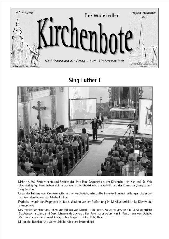 Kirchenbote August/ September 2017