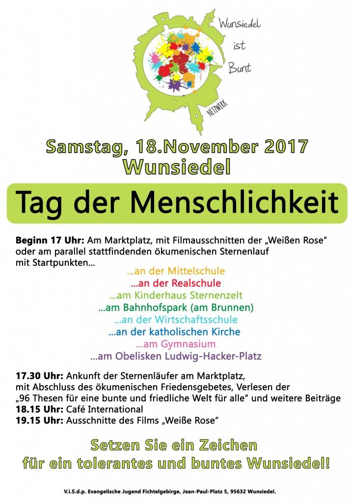 Tag der Menschlichkeit in Wunsiedel am 18.11.2017