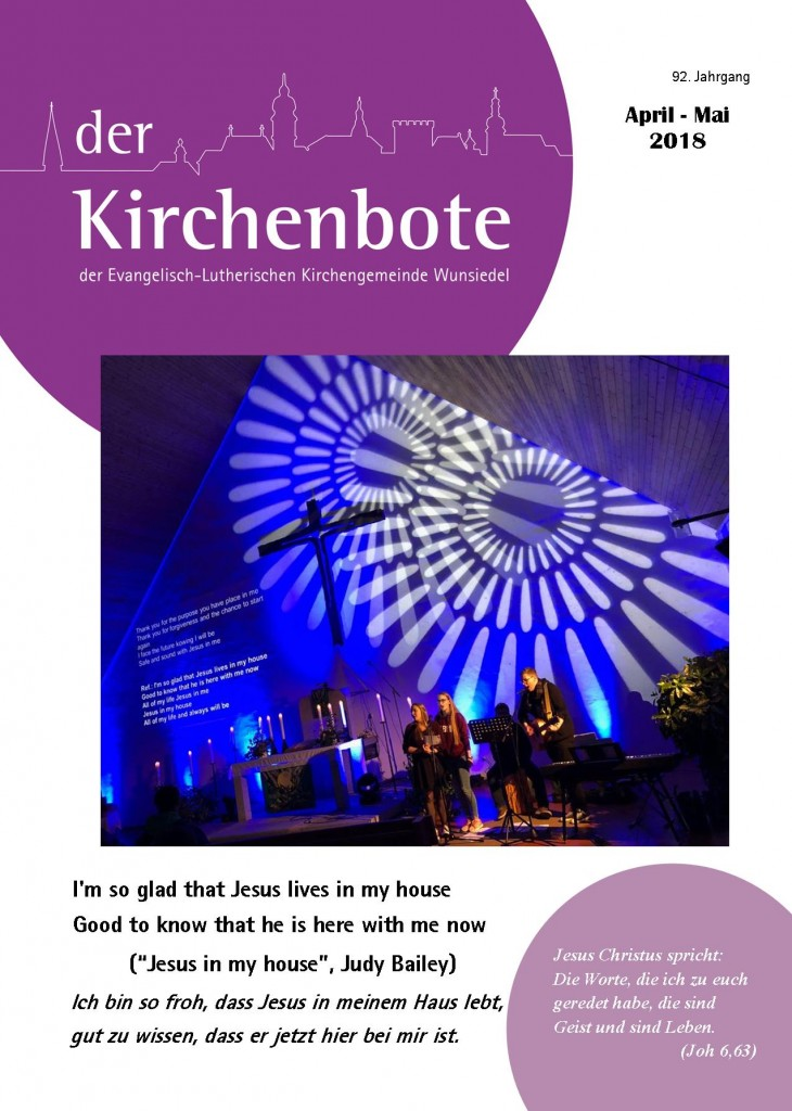 Kirchenbote April/ Mai 2018